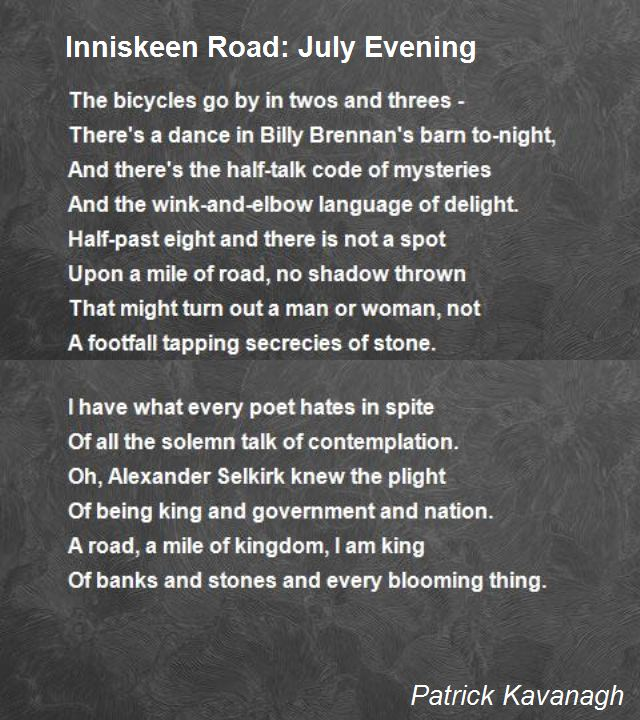 inniskeen-road-july-evening