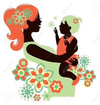 16200867-Beautiful-mother-silhouette-with-baby-Stock-Vector-mom